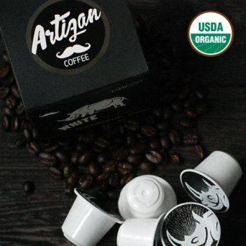 Artizan Coffee White Rhino Signature Blend - 100% Organic Specialty Coffee in a Nespresso Compatible Pod (PRNewsFoto/Artizan Coffee Company)