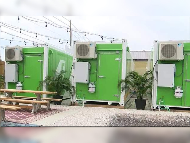 Couple turns shipping containers into organic farms
